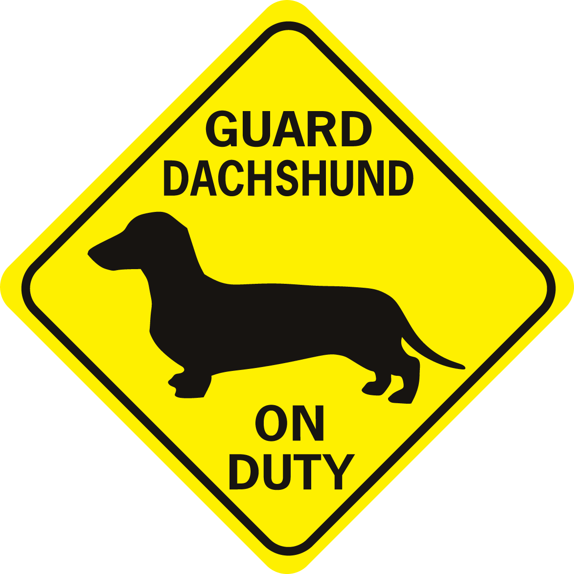 guard dachshund on duty