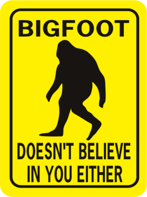 Bigfoot Doesn't Believe In You Either Rectangle