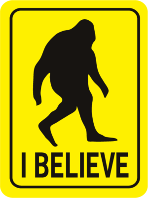 Bigfoot I Believe Rectangle