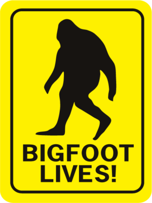 Bigfoot Lives Rectangle
