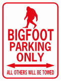 Bigfoot Parking Only Rectangle