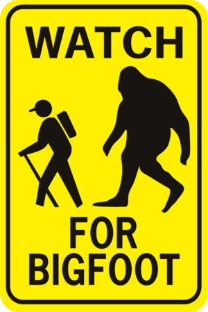 Bigfoot Watch For Bigfoot Rectangle