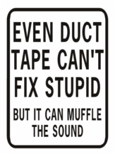 Even Duct Tape Can't Fix Stupid Muffle Rectangle