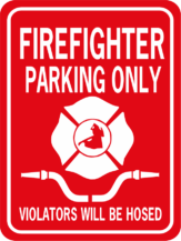 firefighter parking only