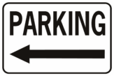 Parking Arrow Left Horizontal