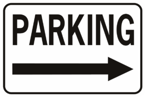 Parking Arrow - All Weather Aluminum Sign from SignXing