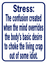 Stress The Confusion Created