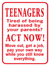 Teenagers Tired Of Being Harassed By Your Parents