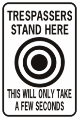 Trespassers Stand Here This Will Only Take A Few Seconds