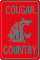 Wsu Cougar Country Rectangle Pkg