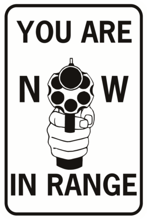 You Are Now In Range Handgun