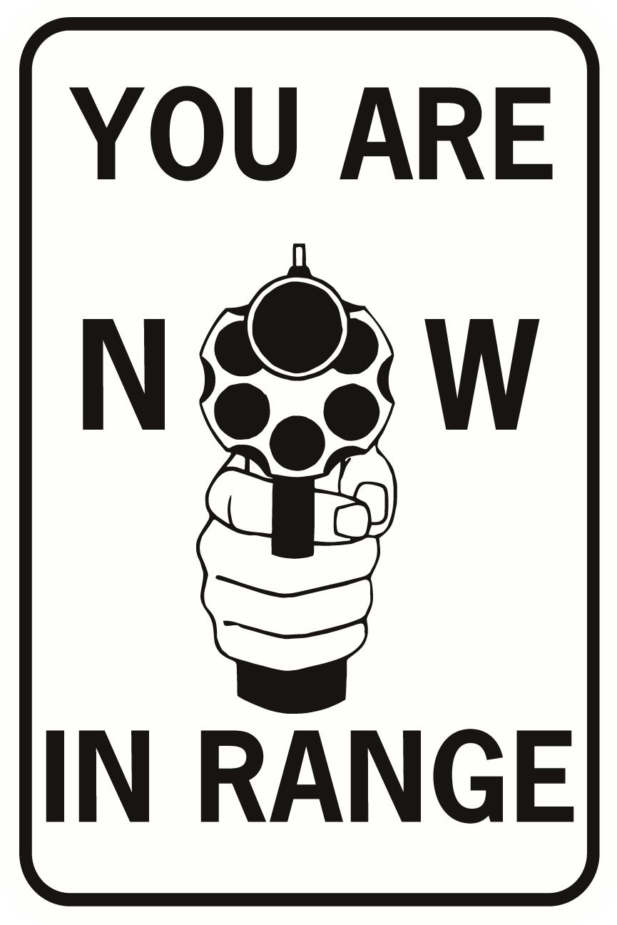 You Are Now In Range Handgun