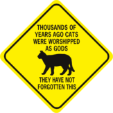 thousands of years ago cats were worshipped diamond
