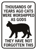 thousands of years ago cats were worshipped rectangle