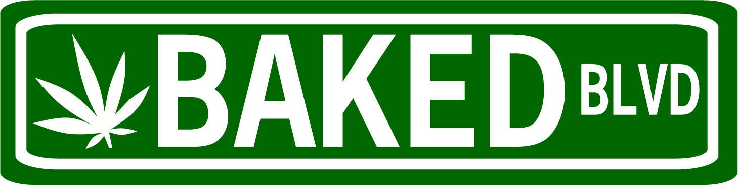 Baked Boulevard Pot Street sign