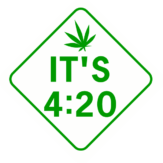 Its 420 Pot Leaf Diamond