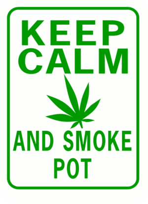 Keep Calm and Smoke Pot Rectangle