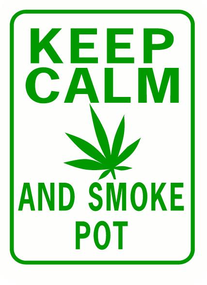 Keep Calm and Smoke Pot Rectangle