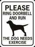 Please Ring Doorbell and Run recrangle