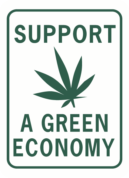 Support a Green economy rectangle