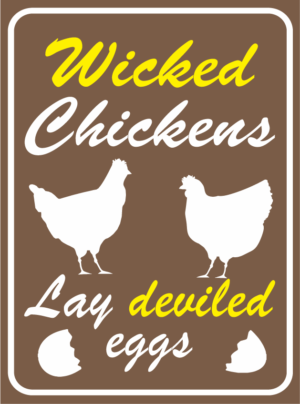 chicken wicked chickens deviled eggs