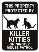 Cat Xing Funny Aluminum Cat Sign