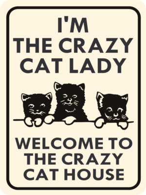 cat i'm the crazy cat lady
