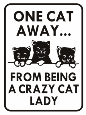 cat one cat away crazy