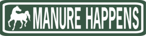 Horse Manure happens funny aluminum street sign