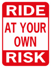Horse Ride At Your Own Risk funny aluminum sign