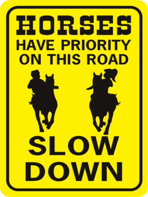Horses Have Priority On This Road 2 kids