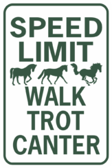 Speed Limit Walk Trot Canter