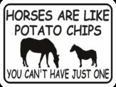 horses are like potato chips