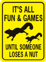 It's All Fun and Games Until Someone Loses a Nut