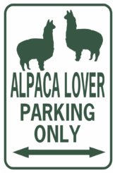 alpaca lover parking rectangle