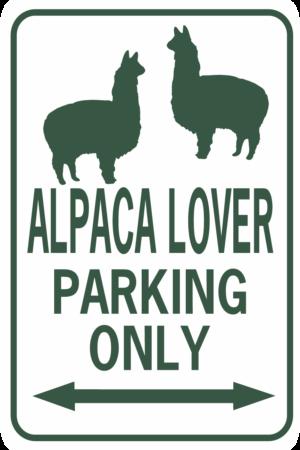 alpaca lover parking rectangle