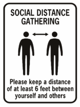Social Distance Gathering 6 Feet Apart
