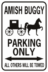 amish buggy parking black