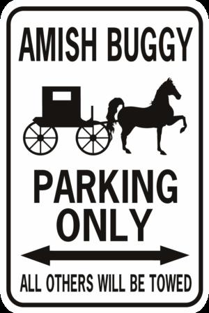 amish buggy parking black
