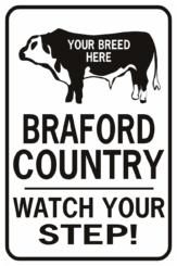cow breed country watch your step