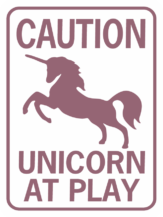 unicorn caution unicorn at play purp wh