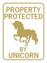 unicorn property protected by unicorn running gold wt