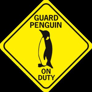 penguin guard penguin on duty