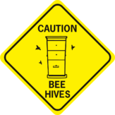 Bee Caution Bee Hives diamond