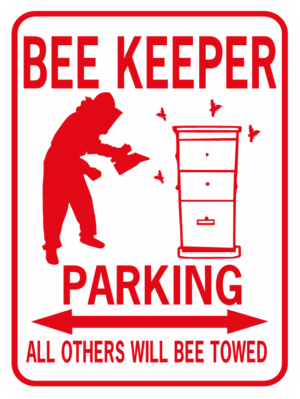 Bee Keeper Parking rectangle